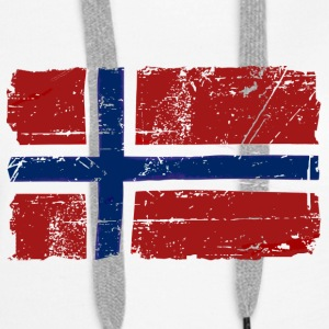 Norway Flag - Vintage Look  Gensere - Premium hettegenser for kvinner