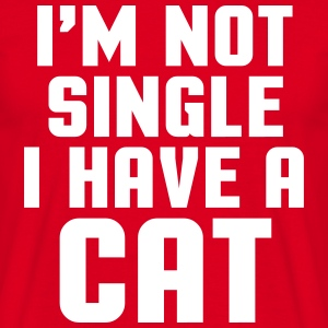 I'm Not Single Cat T-shirts - T-shirt herr