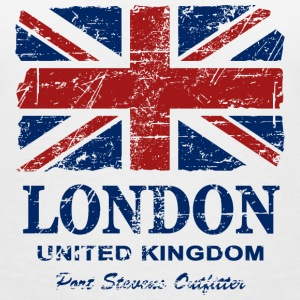 Union Jack - London - Vintage Look  T-shirts - Vrouwen T-shirt met V-hals