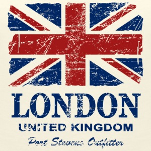 Union Jack - London - Vintage Look  T-Shirts - Frauen T-Shirt mit V-Ausschnitt
