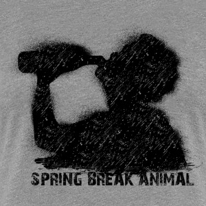spring break animal T-shirts - Premium-T-shirt dam