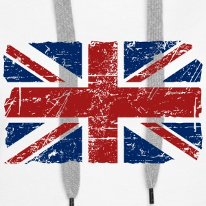 Union Jack - UK - Vintage Look  Pullover & Hoodies - Frauen Premium Hoodie
