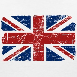 Union Jack - UK - Vintage Look  T-Shirts - Women's V-Neck T-Shirt
