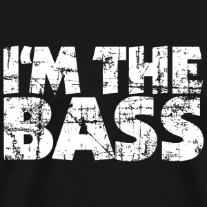I'm the Bass Vintage White (DK) T-shirts - Herre premium T-shirt