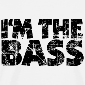 I'm the Bass Vintage Black (DK) T-shirts - Herre premium T-shirt