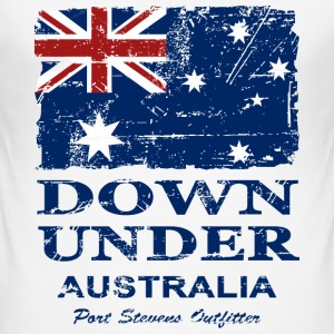 Down Under - Vintage Look  T-skjorter - Slim Fit T-skjorte for menn