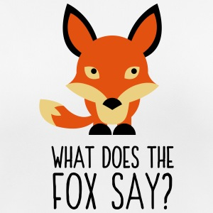 What did the fox say? T-Shirts - Women's Breathable T-Shirt