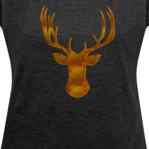 Deer T-Shirts - Women's T-shirt with rolled up sleeves