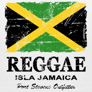 Jamaica - Reggae - Vintage Look  T-Shirts - Women's V-Neck T-Shirt
