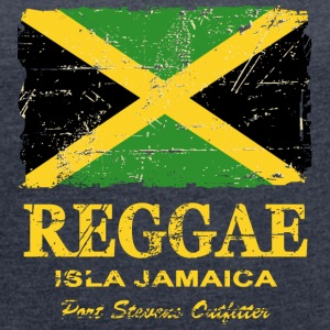 Jamaica - Reggae - Vintage Look  T-Shirts - Women's T-shirt with rolled up sleeves