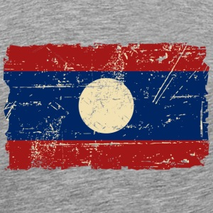 Laos - Flagg - Vintage Look  T-Shirts - Men's Premium T-Shirt