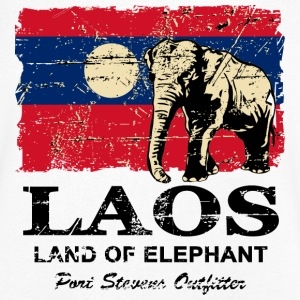 Elephant - Laos - Vintage Look  T-Shirts - Men's V-Neck T-Shirt