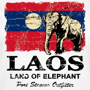 Elephant - Laos - Vintage Look  T-Shirts - Frauen T-Shirt