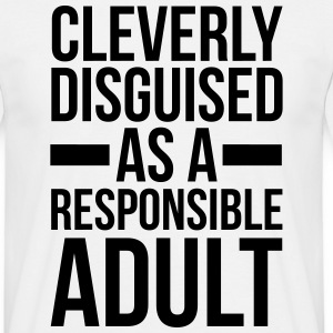 Disguised Responsible Adult  Tee shirts - T-shirt Homme