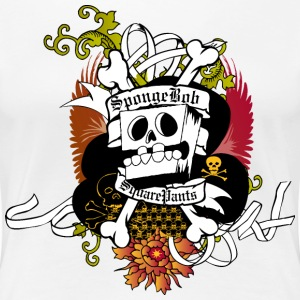 Womens' Premium Shirt SpongeBob Skeleton - Women's Premium T-Shirt