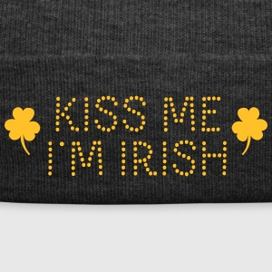 kiss me i'm irish dotted / shamrock / st paddy's Caps & Mützen - Wintermütze