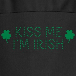 kiss me i'm irish dotted / shamrock / st paddy's  Aprons - Cooking Apron