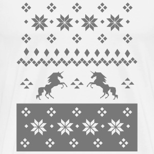Norwegian Knitting Pattern - Unicorn T-Shirts - Männer Premium T-Shirt