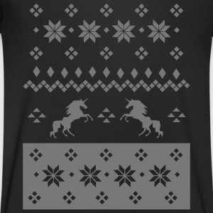 Norwegian Knitting Pattern - Unicorn T-skjorter - T-skjorte med V-utsnitt for menn