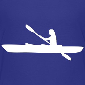 Kayak, kayaker - woman Shirts - Teenage Premium T-Shirt