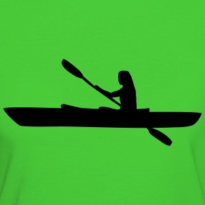 Kayak, kayaker - woman T-Shirts - Frauen Bio-T-Shirt