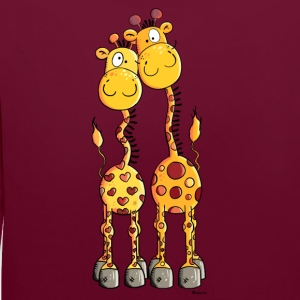 Amour Girafes Sweat-shirts - Sweat-shirt contraste