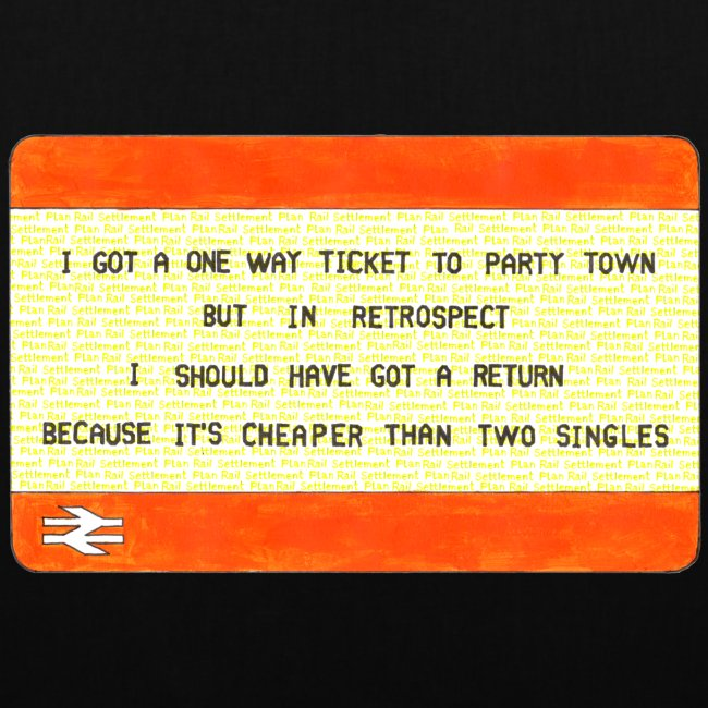 One Way Ticket to Party Town Tote Bag