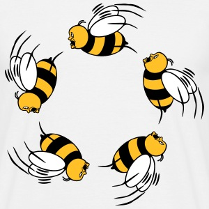 Bee Fly grappige fright cirkel ring T-shirts - Mannen T-shirt