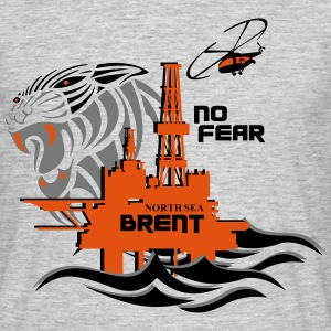 North Sea Brent Oil Rig Platform No Fear - Men's T-Shirt