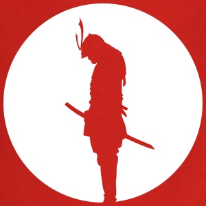 Japan Samurai Warrior - silhouette (Japan flag) Forklær - Kokkeforkle