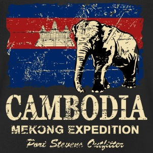 Cambodia - Elephant - Vintage Look  T-shirts - Mannen T-shirt met V-hals