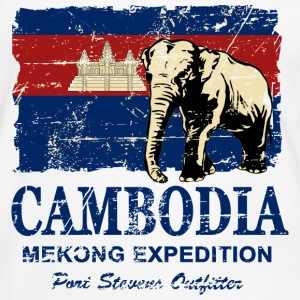 Cambodia - Elephant - Vintage Look  Tee shirts - T-shirt contraste Homme