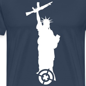 Statue of Liberty with weapon T-Shirts - Men's Premium T-Shirt