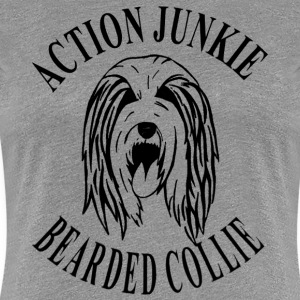 Bearded Collie Action Junkie - Frauen Premium T-Shirt
