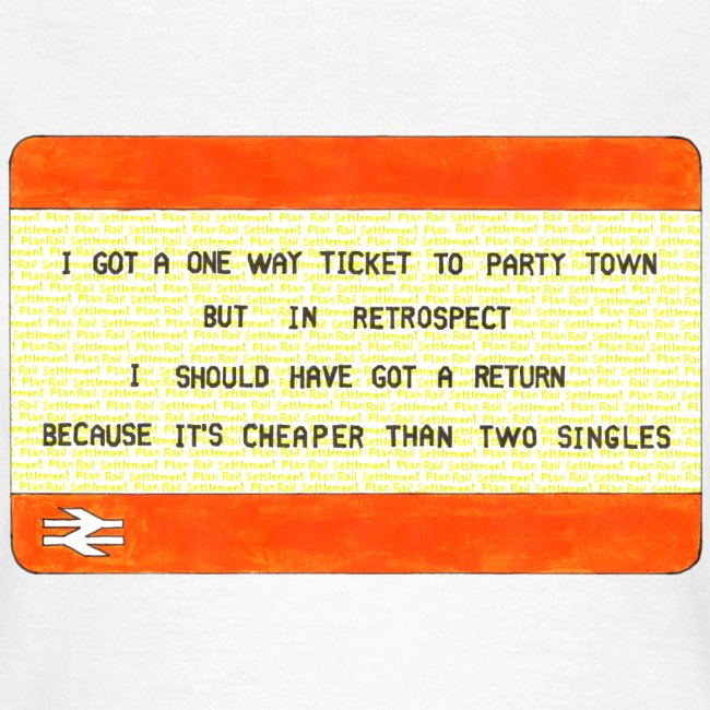 One Way Ticket to Party Town (Women's T-shirt)