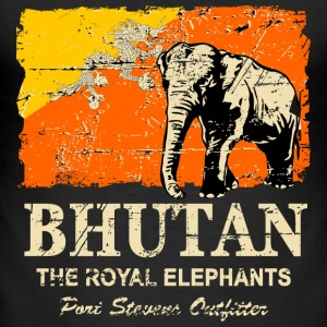Bhutan Elephant - Vintage Look T-Shirts - Männer Slim Fit T-Shirt