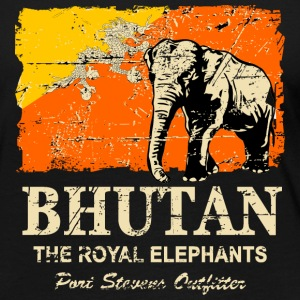 Bhutan Elephant - Vintage Look Long Sleeve Shirts - Women's Premium Longsleeve Shirt