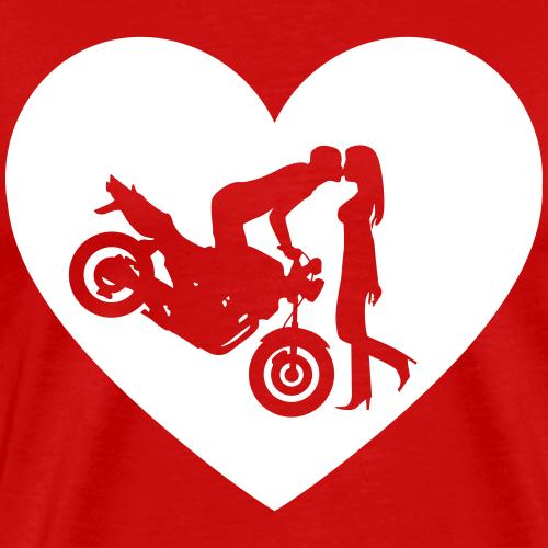Motorradkuß Naked Bike Herz