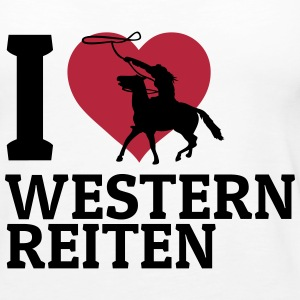 I love Westernreiten Tops - Women's Premium Tank Top