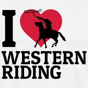 I love Westernriding j'aime westernriding Tee shirts - T-shirt Premium Homme