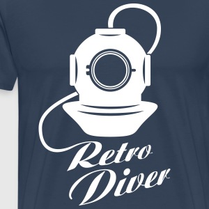Diving helmet Retro Diver T-Shirts - Men's Premium T-Shirt