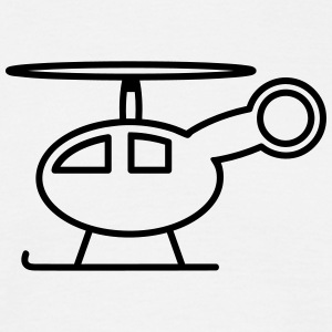 Helikopter legetøj barn baby T-shirts - Herre-T-shirt