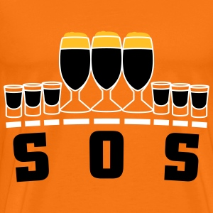 SOS alcohol T-Shirts - Men's Premium T-Shirt