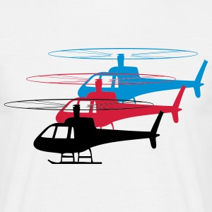 Hubschrauber Helikopter spass formation  T-shirts - Herre-T-shirt