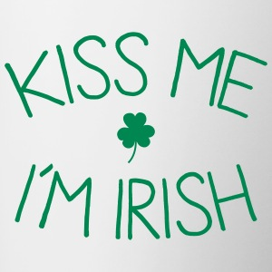 kiss me im Irish cute Mugs & Drinkware - Contrasting Mug