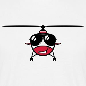 Helikopter helikopter zonnebril T-shirts - Mannen T-shirt
