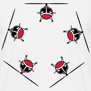 Helicopter Helicopter circular ring T-Shirts - Men's T-Shirt