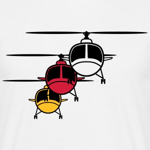 Helikopter helikopter vorming T-shirts - Mannen T-shirt