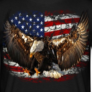 eagle USA Flag Adler freedom T-Shirts - Männer T-Shirt