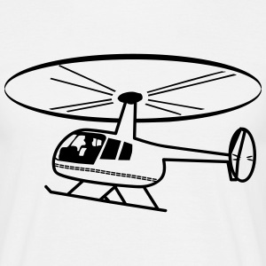 Helikopter helikopter rotor fluga T-shirts - T-shirt herr